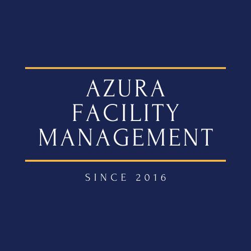 Azura Facility Management Logo mit Canva erstellt